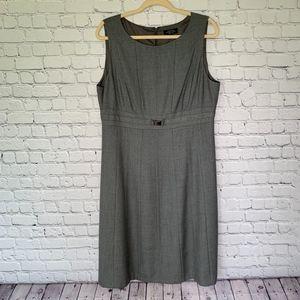 TAHARI Grey Sheath Dress
